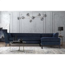 Jess Navy Linen RAF Sectional-Chaise