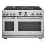 """GE MonogramMonogram 48"""" Dual-Fuel Professional Range with 6 Burners and Grill (Natural Gas)"""