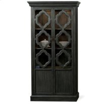Corinne Display Cabinet Ebonized Acacia finish
