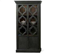 Corinne Display Cabinet Ebonized Acacia finish