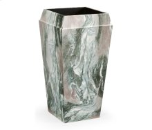 Medium Square Faux Black & Grey Marble Planter