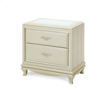 After Eight Pearl Croc Nightstand