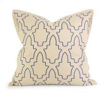 IK Eliso Light Blue Embroidered Linen Pillow w/ Down Fill