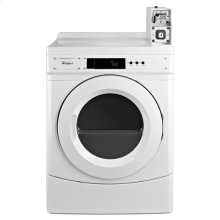 """Whirlpool® 27"""" Commercial Electric Dryer with with Factory-Installed Coin Slide and Coin Box - White"""