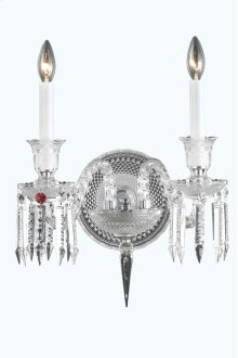 8902 Majestic Collection Wall Sconce Chrome Finish