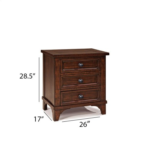 Bedroom - Hayden Three Drawer Nightstand