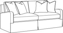 Halsey Slipcovered Short Sofa