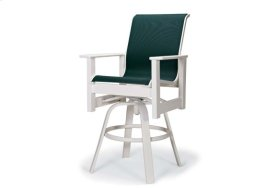 Balcony Height Swivel Arm Chair