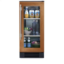 15 Inch Overlay Glass Door Undercounter Refrigerator - Right Hinge Overlay Glass