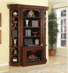 2pc Fireplace Base & Hutch
