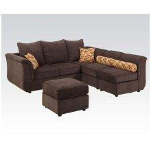 Sec. Sofa/2chairs/ottoman Set