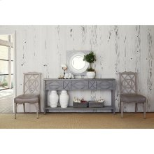 Spindle Console - Weathered Grey