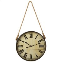 Round Wall Clock with Rope Hanger. Product Image