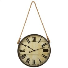 Round Wall Clock with Rope Hanger.