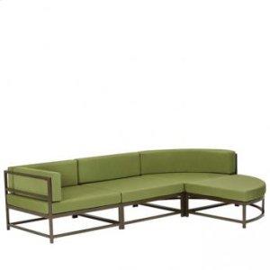 "Cabana Club Cushion Curved Corner Module (15"" Seat Height)"