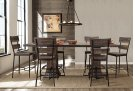 Jennings 7 Piece Rectangle Counter Height Dining Set With Non-swivel Counter Stools - Distressed Wal Product Image