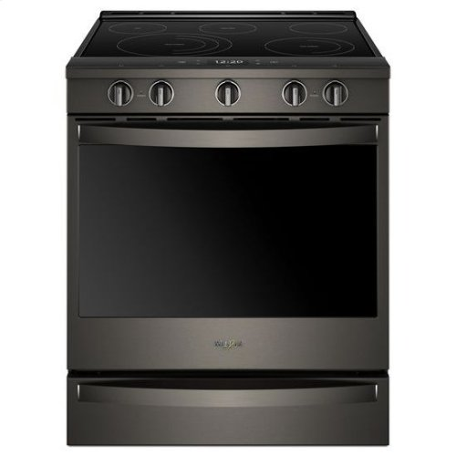 Whirlpool® 6.4 Cu. Ft. Smart Slide-in Electric Range with Frozen Bake™ Technology - Black Stainless