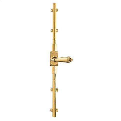 Polished Brass Cremone Bolt