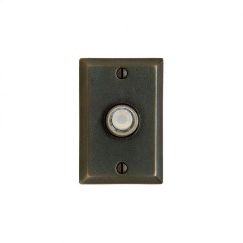 Rectangular Doorbell Button Silicon Bronze Light