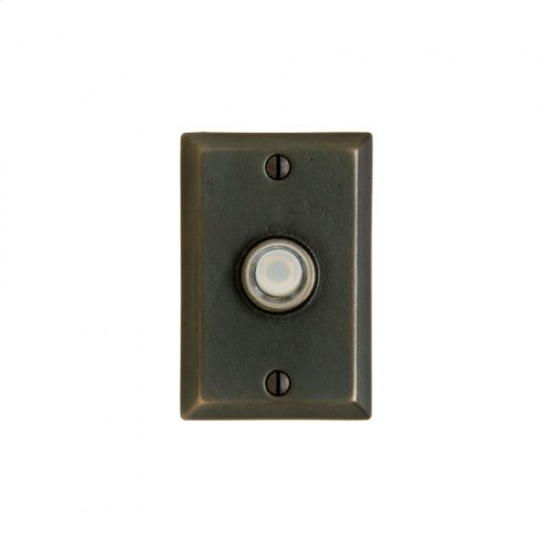 Rectangular Doorbell Button White Bronze Light