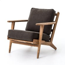 Stonewash Dark Green Cover Distressed Washed Old Oak Finish Brooks Lounge Chair