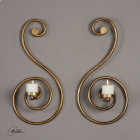 Lucetta, Wall Sconces, S/2