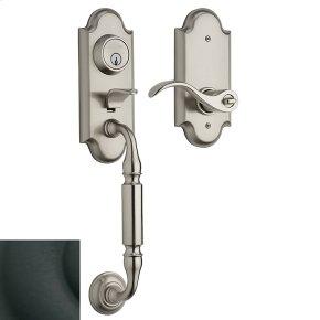 Satin Black Ashton Two-Point Lock Handleset