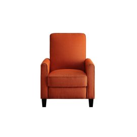 Push Back Reclining Chair, Orange