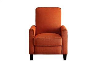 Push Back Reclining Chair, Orange