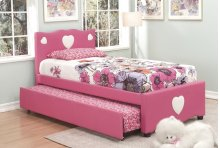 Pink Twin Bed With Trundle