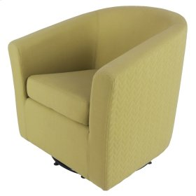 Hayden Fabric Swivel Chair, Citron/Lime Leafage Green