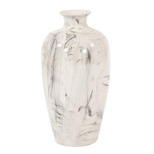 Porcelain White and Black Swirl Vase