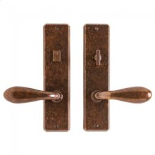 """Hammered Privacy Set - 2 1/2"""" x 10"""" White Bronze Brushed"""