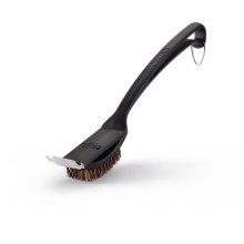 Natural Fiber Grill Brush With Grid Scraper