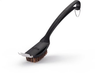 Natural Fiber Grill Brush With Grid Scraper