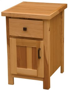 Enclosed Nightstand Natural Hickory