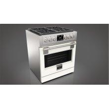 "30"" Dual Fuel Pro Range - Matte White"