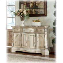 Dining Room Server Ortanique - Antique White Collection Ashley at Aztec Distribution Center Houston Texas