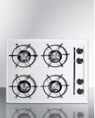 "24"" Wide Cooktop In White, With Four Burners and Battery Start Ignition; Replaces Wtl03p Product Image"