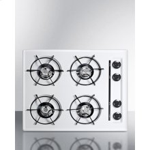 """24"""" Wide Cooktop In White, With Four Burners and Battery Start Ignition; Replaces Wtl03p"""