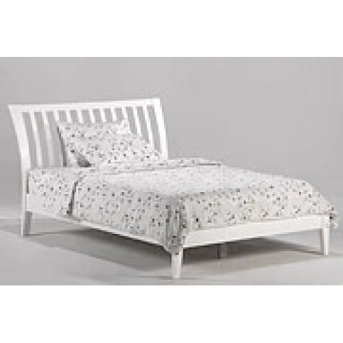 Nutmeg Bed in White Finish