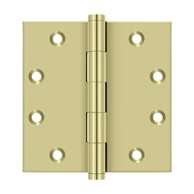 """4 1/2"""" x 4 1/2"""" Square Hinges - Unlacquered Brass"""