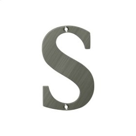 "4"" Residential Letter S - Antique Nickel"