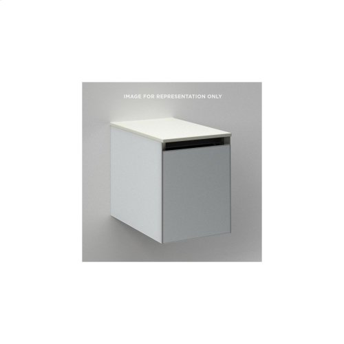 """Cartesian 12-1/8"""" X 15"""" X 21-3/4"""" Single Drawer Vanity In Matte Black With Slow-close Full Drawer and No Night Light"""