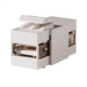 Keystone, USB Type A-A, Feed-Thru, Cloud White