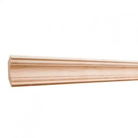 """2-1/2"""" x 3/4"""" Cove Crown Moulding: Finish: Hard Maple. Priced by the linear foot and sold in 8' sticks in cartons of 80' feet."""