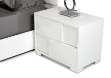 Modrest Monza Italian Modern White Nightstand