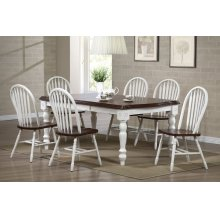DLU-SLT4272-820-AW7PC  Andrews 7 Piece Extendable Dining Set  Arrowback Chairs