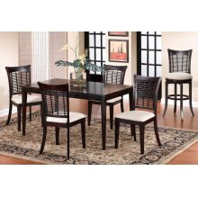 Bayberry 5pc Rectangle Dining Set Dark Cherry