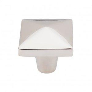 Aspen II Square Knob 1 1/2 Inch - Polished Nickel